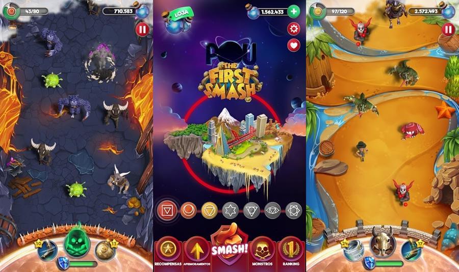 POU-The-First-Smash Novos Jogos Android para Download (semana 33 de 2018)