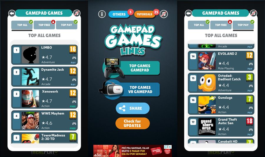 aplicativo-jogos-controle-android-novo-lista Aplicativo encontra jogos Android compatíveis com controles