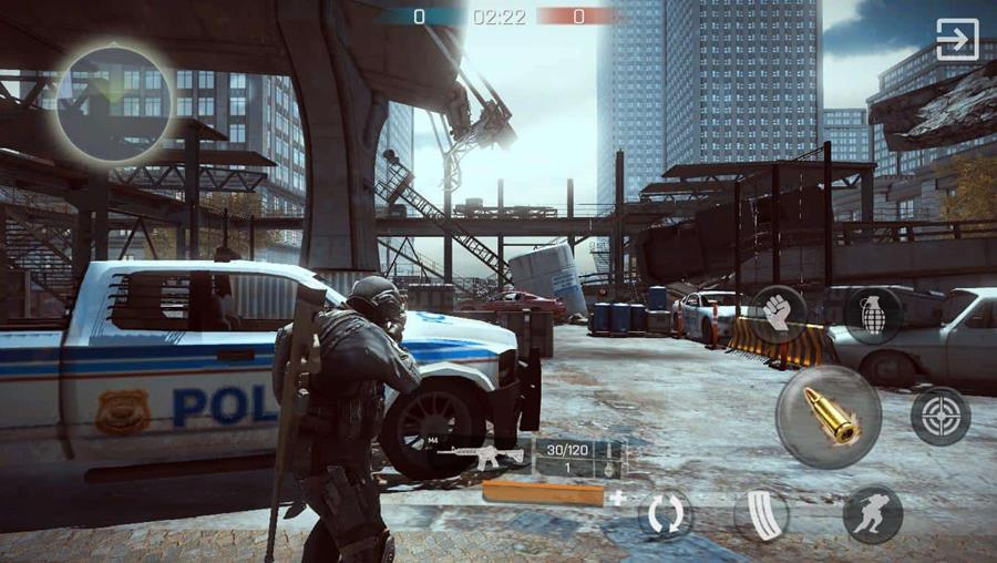 "Bullet-Battle-iOS-Screen-1 Bullet Battle: Jogo de Tiro Online inspirado em ""The Division"""