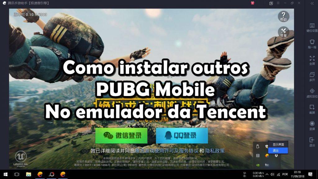 Emulador da Tencent: como instalar PUBG Mobile (Timi e Lightspeed chinês)