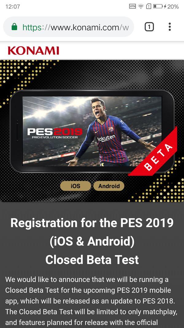 PES 2019 Mobile: Veja como se inscrever no pré-registro para o beta