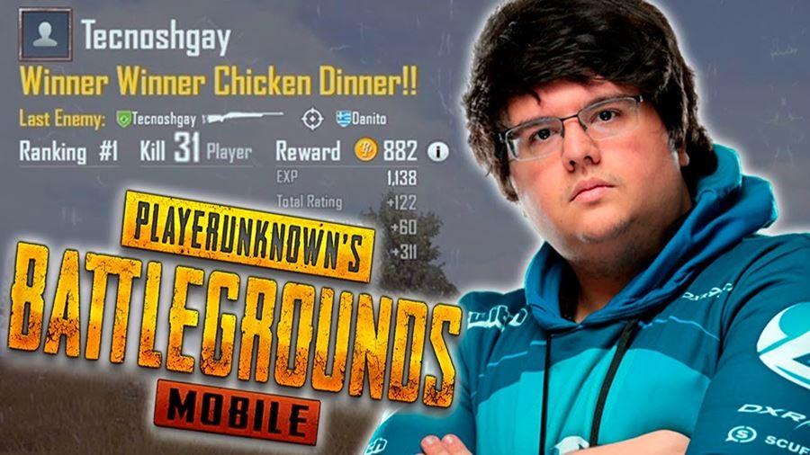 """tecnosh-pubg-mobile Tecnosh joga PUBG Mobile e consegue 31 """"kills"""" em uma partida"""