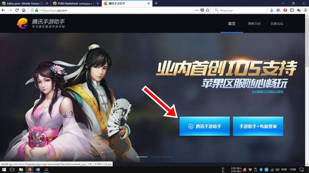 tencent-gaming-buddy-site-oficial-chines-1024x576 Emulador da Tencent: como instalar PUBG Mobile (Timi e Lightspeed chinês)