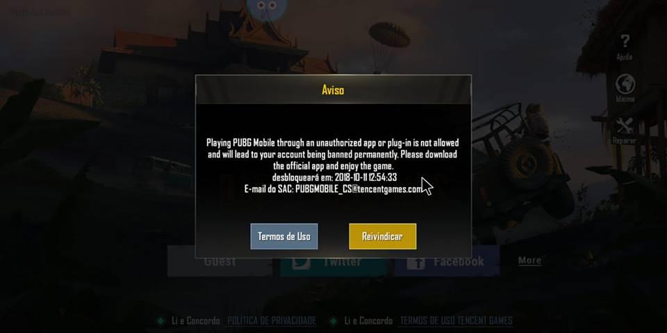 aviso-ban-pubg-mobile-octopus URGENTE: PUBG Mobile passa a banir jogador que usa controle (Octopus)