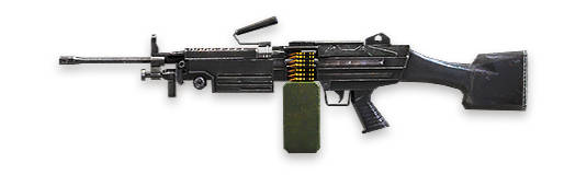 M249-free-fire Fire Fire Armas: Os Melhores Rifles de Assalto (assault rifles - AR)