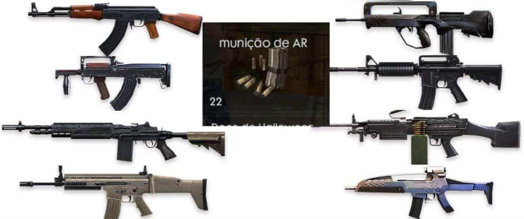 Free Fire: Armas e suas Munições