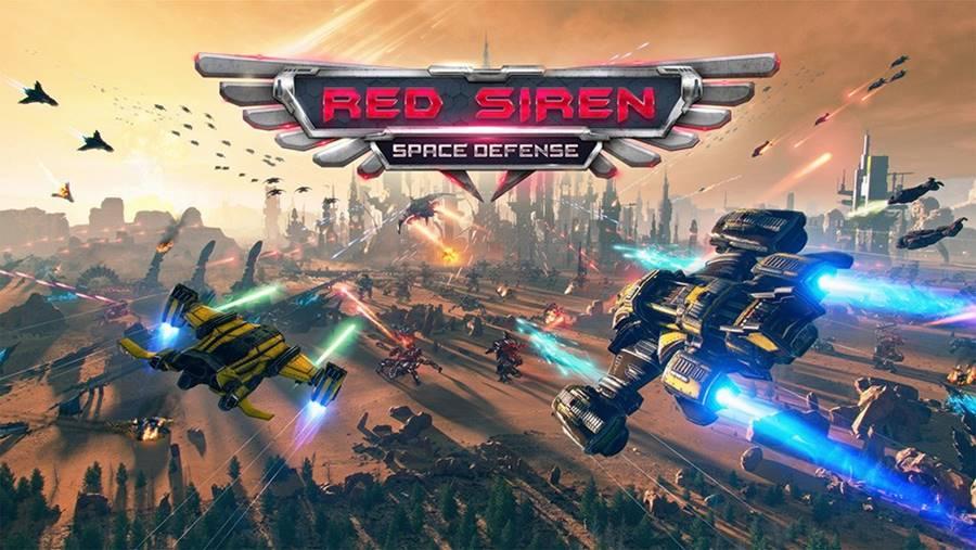 red-siren-jogo-offline-android-ios Red Siren Space Defense - Jogo Offline com naves em 3D