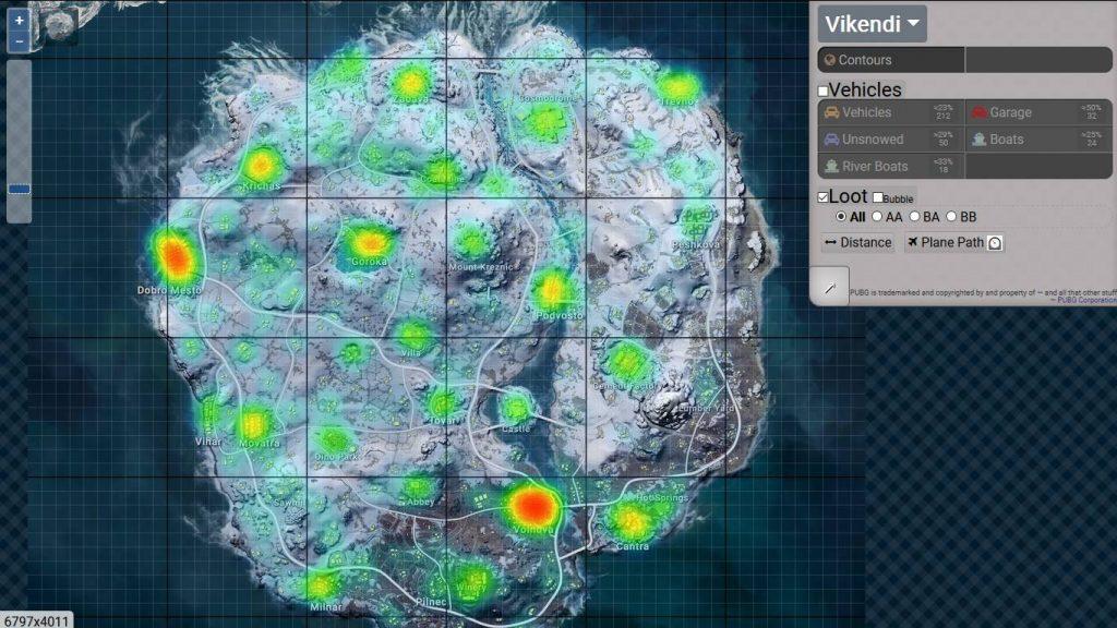 mapa-de-calor-vikendi-pubg-1024x576 PUBG: Veja os Melhores Locais para Cair em Vikendi