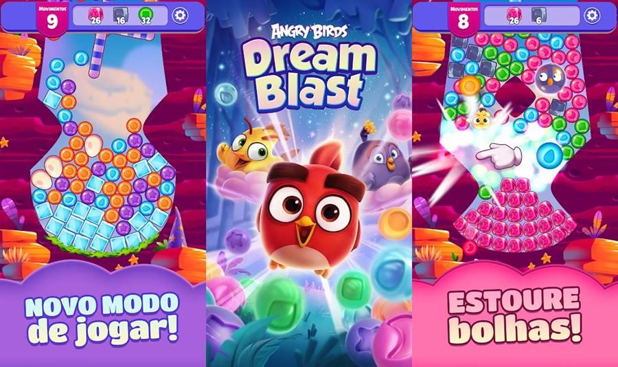 angry-birds-dream-blast Dream Blast: Novo Jogo traz Angry Birds em um Puzzle Fofinho