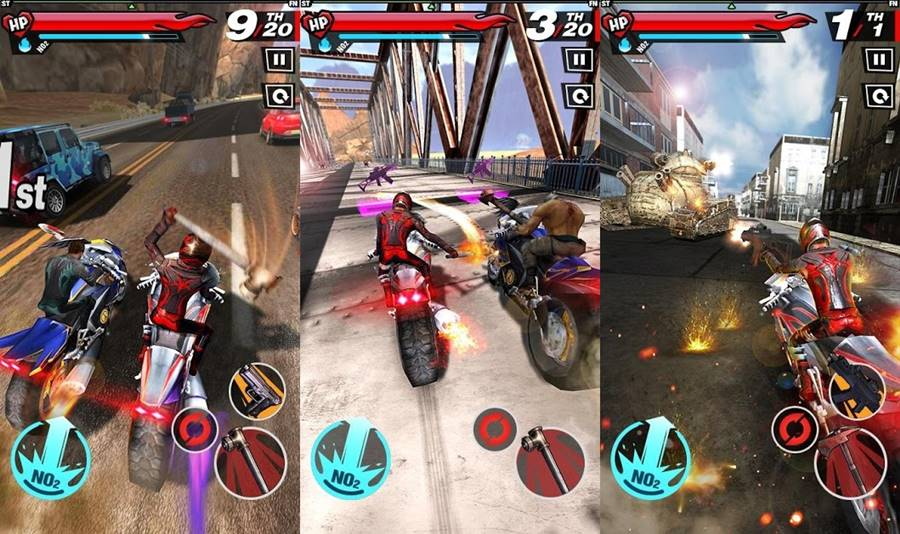 fury-rider-android-road-rash 30 Melhores Jogos Android Offline 2019