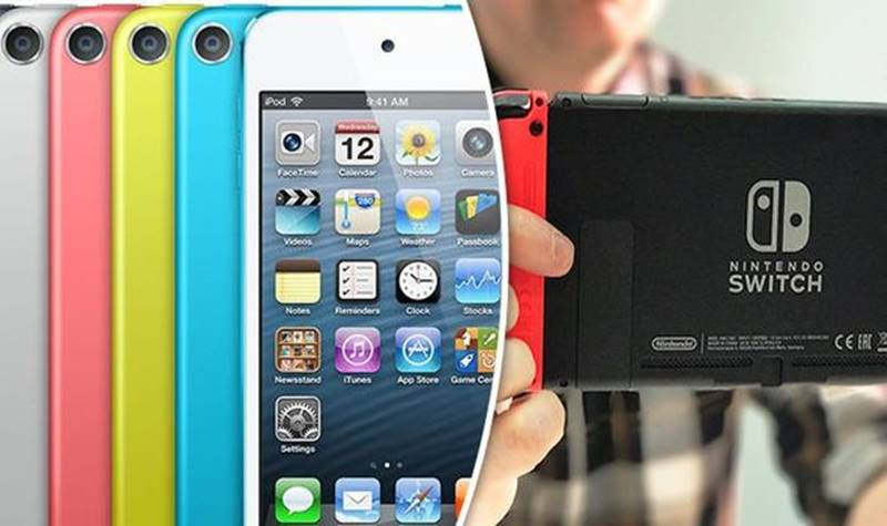 "iPod-Touch-e-Nintendo-Switch Apple pode estar desenvolvendo um ""iPod Switch"" [RUMOR]"