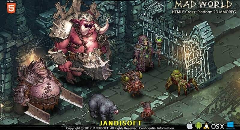 Mad-World-2019 Mad World é um MMO em HTML5 para PC e Celular