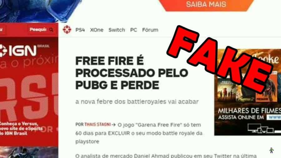 """free-fire-perde-processo-fake-news Free Fire foi """"processado"""" e vai acabar? Fake News domina o WhatsApp!"""