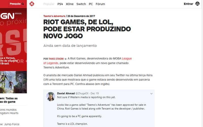 "noticia-ign-brasil Free Fire foi ""processado"" e vai acabar? Fake News domina o WhatsApp!"