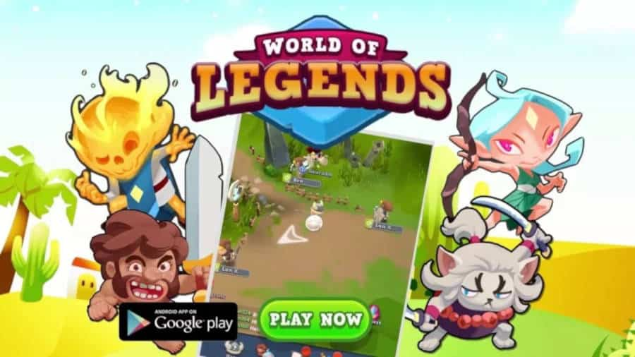 world-legends-android World of Legends é um MMORPG para jogar só com uma mão