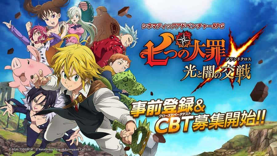 The-Seven-Deadly-Sins-Grand-Cross-CBT-android-apk-ios Nanatsu no Taizai: Jogo do anime para Android e iOS