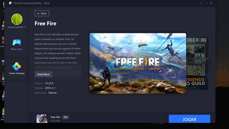 free-fire-no-emulador-tencent-android-windows-10-1 Free Fire no emulador de PUBG? Jogo chega ao Tencent Gaming Buddy!