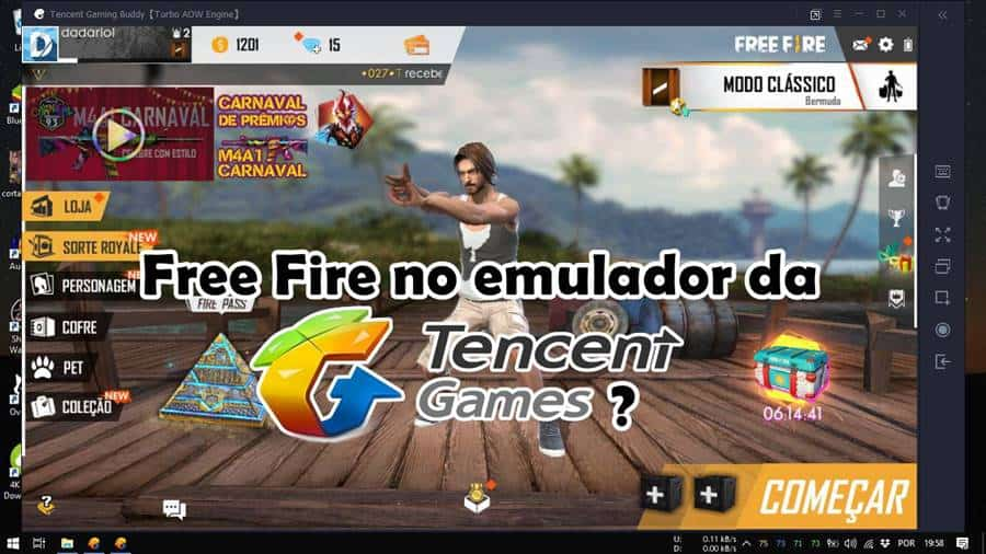 free-fire-no-emulador-tencent-android-windows-10-3 Free Fire no emulador de PUBG? Jogo chega ao Tencent Gaming Buddy!
