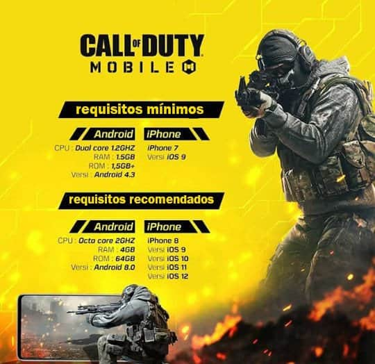 requisitos-call-of-duty-mobile Call of Duty Mobile: Celulares Compatíveis e Requisitos Mínimos