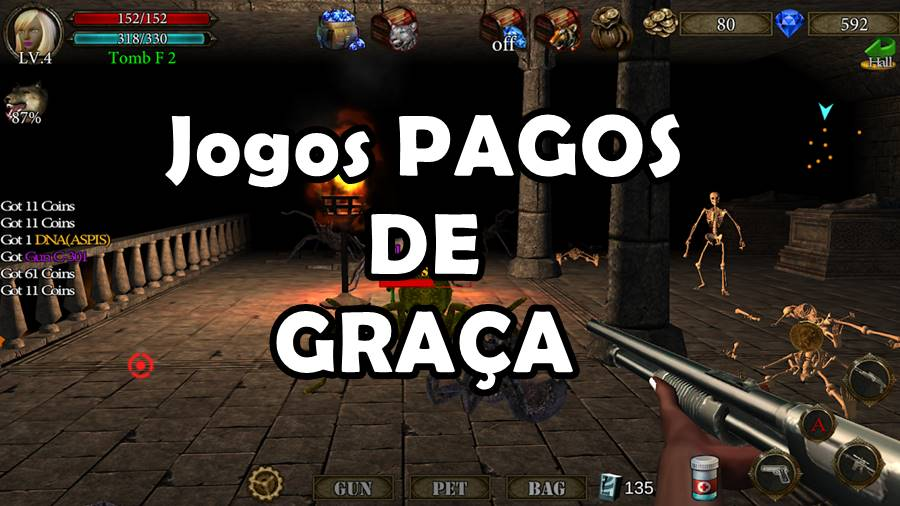 dungeon-shooter-jogos-pagos-de-graca-promocao 19 Jogos OFFLINE Pagos que estão de GRAÇA no Android