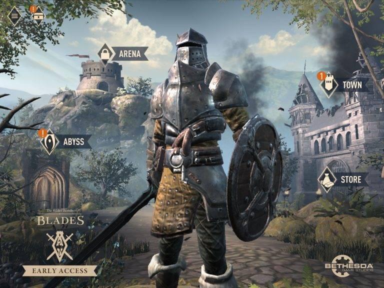 elder-scrolls-blades-menu-principal The Elder Scrolls: Blades é lançado globalmente para Android e iOS