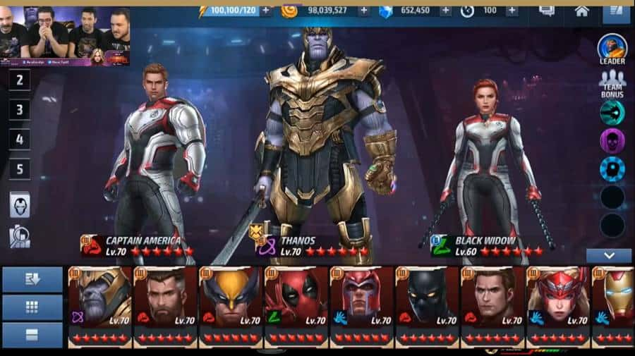 thanos-vingadores-ultimato-marvel-future-fight Vingadores Ultimato: jogo Android mostra novos uniformes do filme