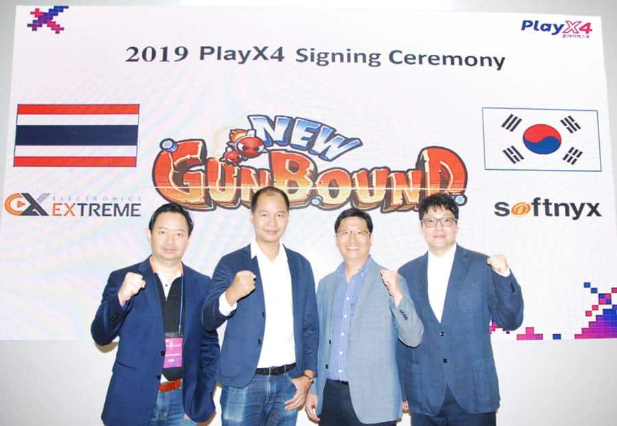 New-Gunbound-signing-ceremony-photo Novo jogo de Gunbound será cross-plataform (PC e Mobile)
