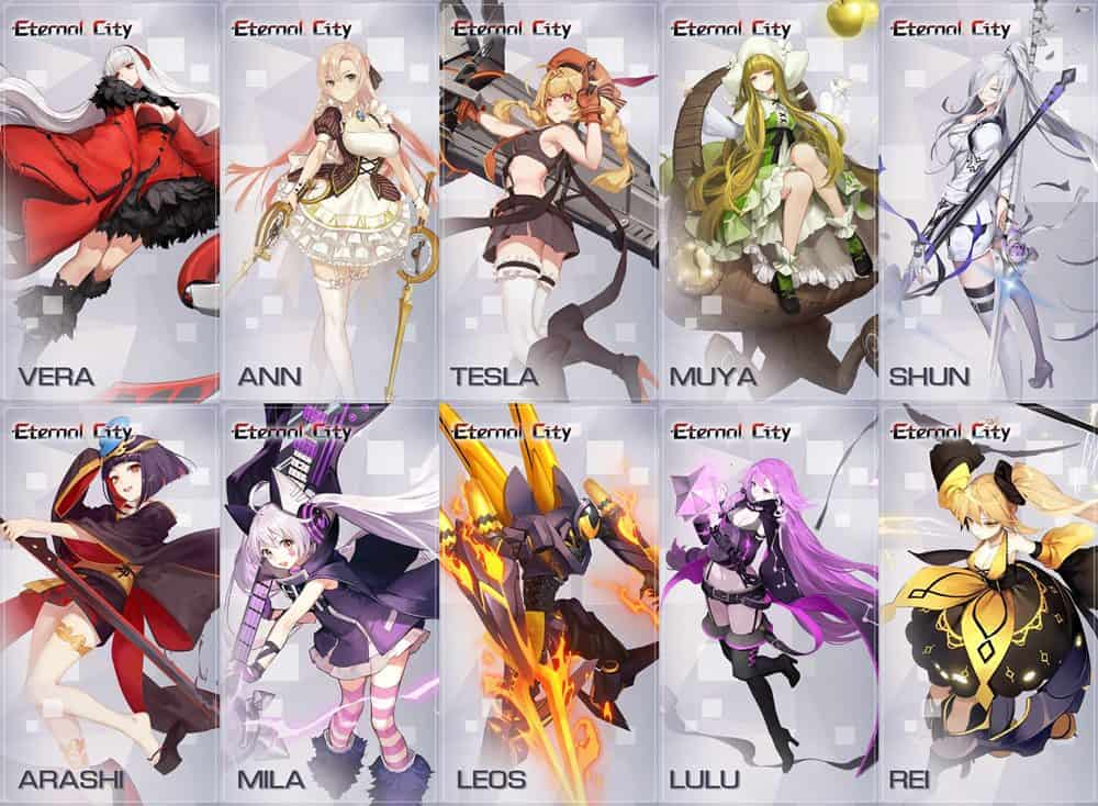 "eternal-city-girls Eternal City: novo jogo de ""Waifus"" (APK Android e iOS)"