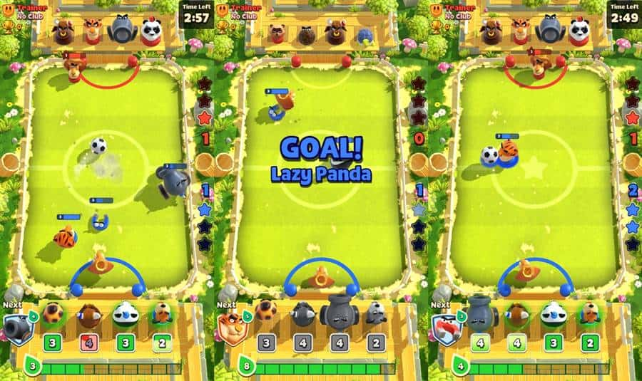 rumble-stars-android-iphone Rumble Stars mistura Clash Royale com Futebol de Botão