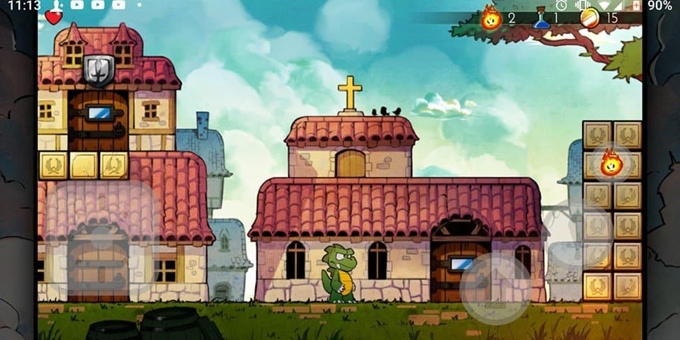 wonder-boy-dragon-trap 25 Jogos para jogar com Controle no Android em 2020