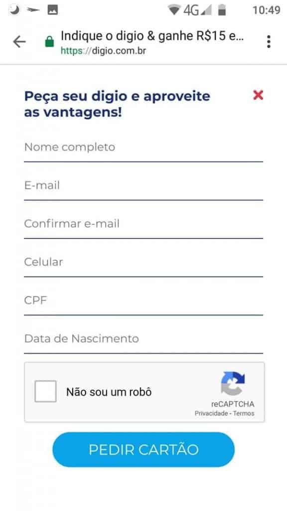 digio-convite-como-solicitar-2-576x1024 Convite Cartão Digio (+ como solicitar / fazer)