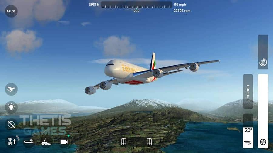 flywings-flight-simulador-2018-android FlyWings  - Simulador de voo OFFLINE para Android