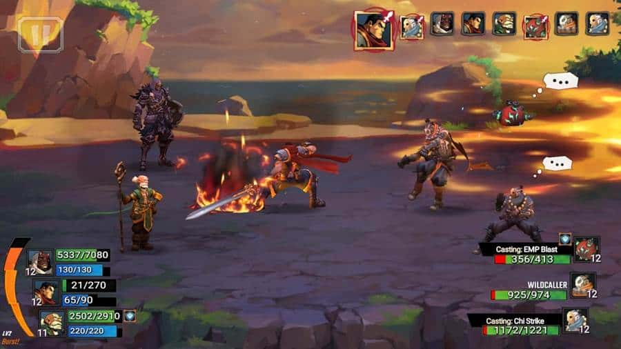 battle-chasers-android-iphone Top 10 Melhores Jogos de RPG Android e iOS 2020 (online e offline)