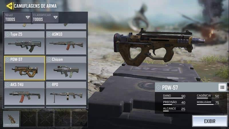 pdw-57-call-of-duty-mobile-7 Call of Duty Mobile: Guía completa de las mejores armas