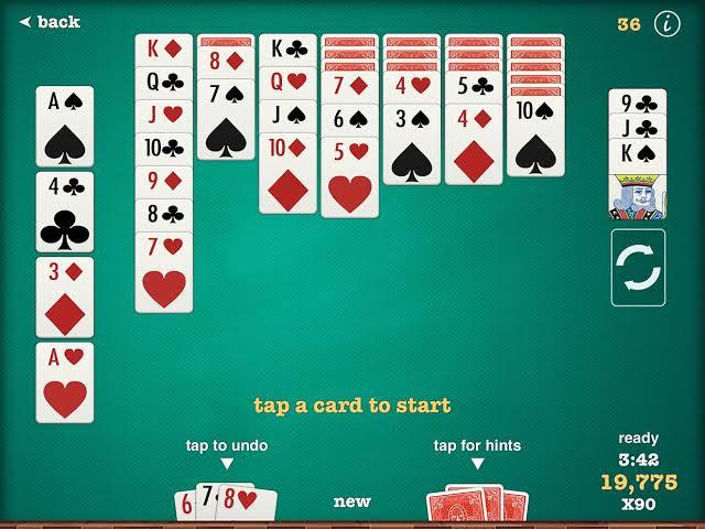solitaire-game-iphone 100 Melhores Jogos OFFLINE para iOS (de todos os tempos)