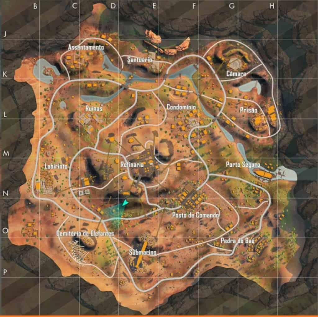 Mapa-Kalahari-Free-Fire-1024x1021 Free Fire com problemas? Garena desiste de mapa Kalahari e agiliza mudanças