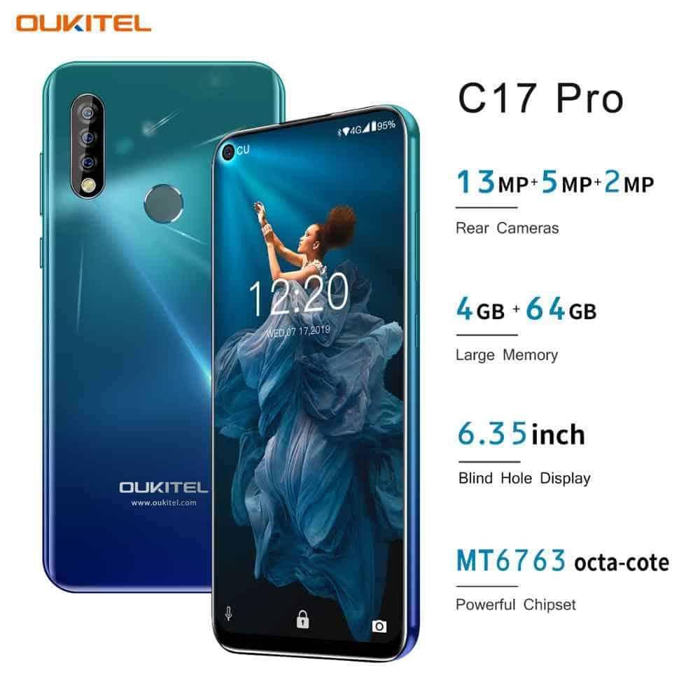 Oukitel-C17-Pro Smartphones BARATOS para importar em 2020 (e não ser taxado)