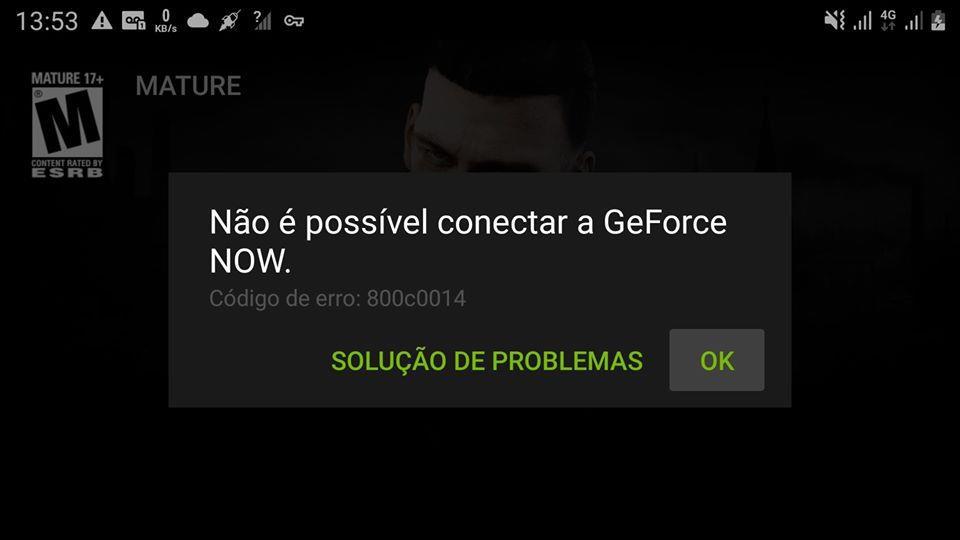 nao-possivel-conectar-geforce-now-erro Geforce Now: como corrigir os principais erros (0xc0f1103f E outros)