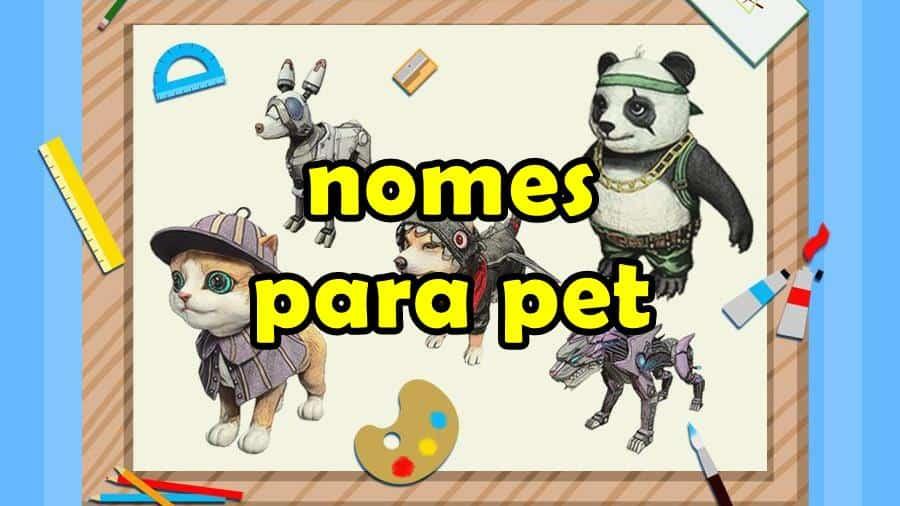 1 600 Nomes De Pet Para Free Fire Cachorro Gato Raposa E Panda