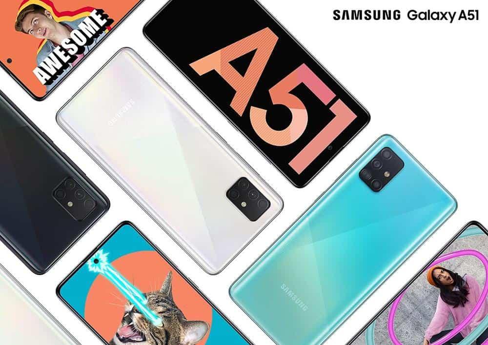 Samsung-A51 Smartphones Baratos para Games em 2020 (No Brasil R$ 1100 a R$ 2000)