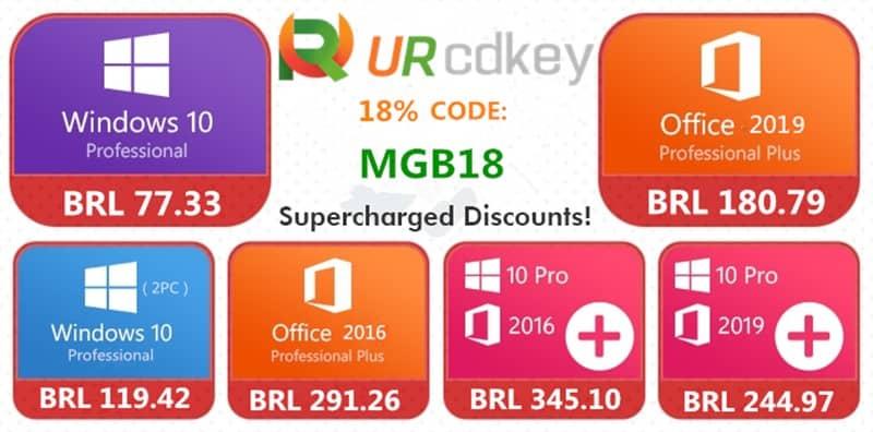 URcdkey-promocao Windows 10 Pro por apenas  R$ 71 e outras promoções na URcdkey