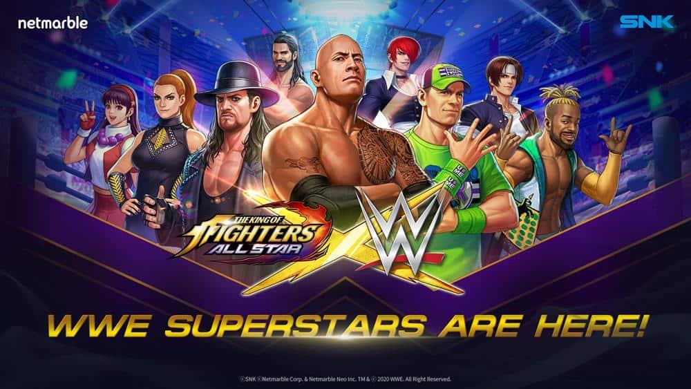 WWE-KOF-ALLSTAR-CROSSOVER Lutadores da WWE vão aparecer em KOF ALLSTAR