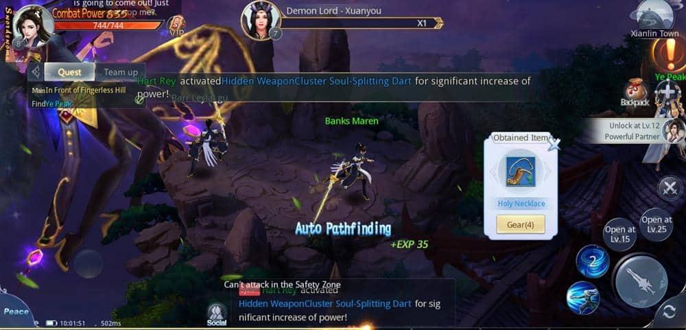 """immortal-destiny-android-2 Immortal Destiny é um MMORPG que já vem """"no automático"""""""