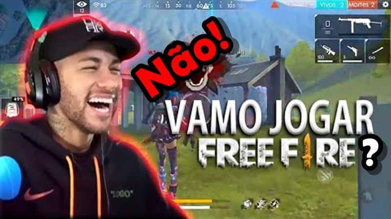 free-fire-nao-quer-jogar-free-fire Humor: aparentemente Neymar não quer jogar Free Fire com Alok