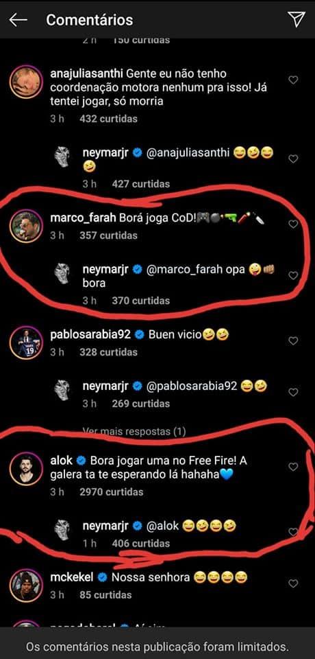 free-fire-neymar-alok Humor: aparentemente Neymar não quer jogar Free Fire com Alok