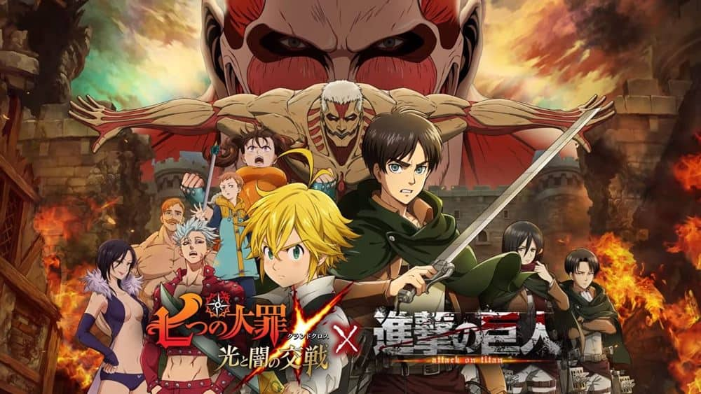 The-Seven-Deadly-Sins-Attack-on-Titan-Collaboration-android-ios Nanatsu no Taizai e Attack on Titan se unem em colaboração neste game de Android e iOS