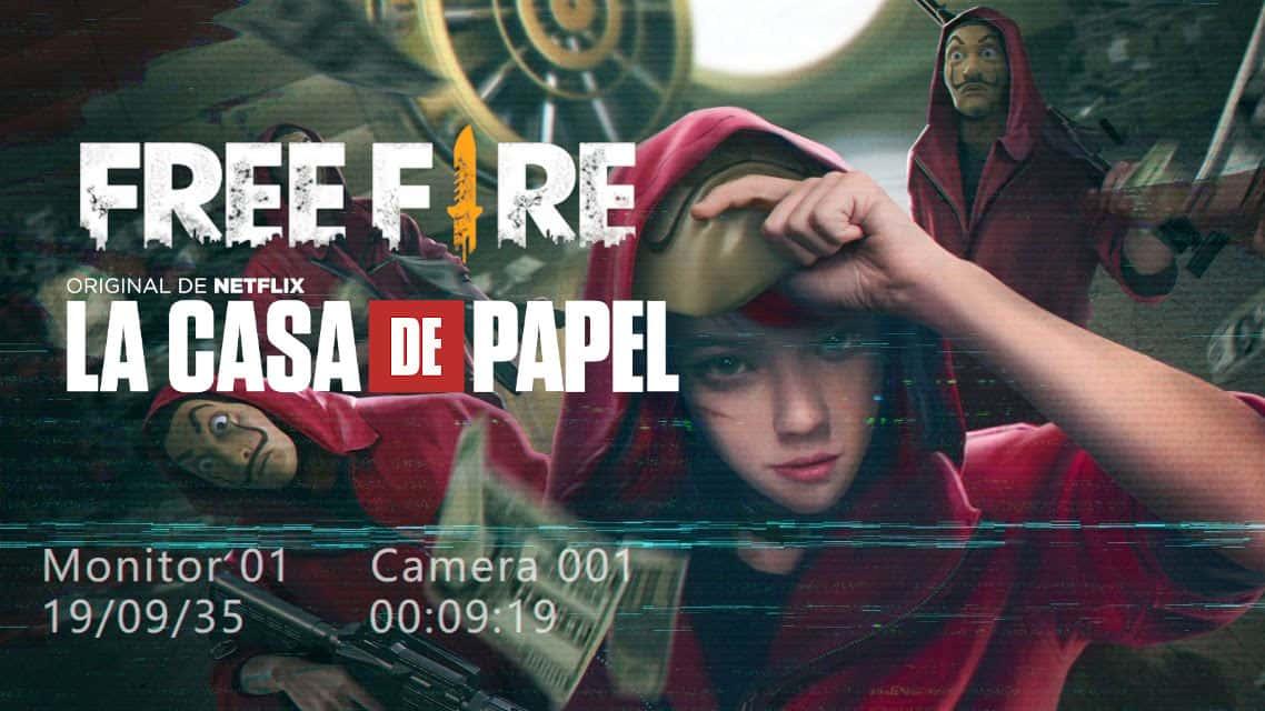"""free-fire-la-casa-de-papel Free Fire anuncia evento com a série """"La Casa de Papel"""""""
