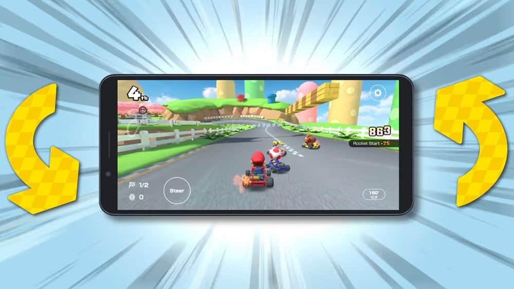 """mario-kart-tour-modo-paisagem-1 Mario Kart Tour adiciona modo """"paisagem"""" para jogar com celular na """"horizontal"""""""