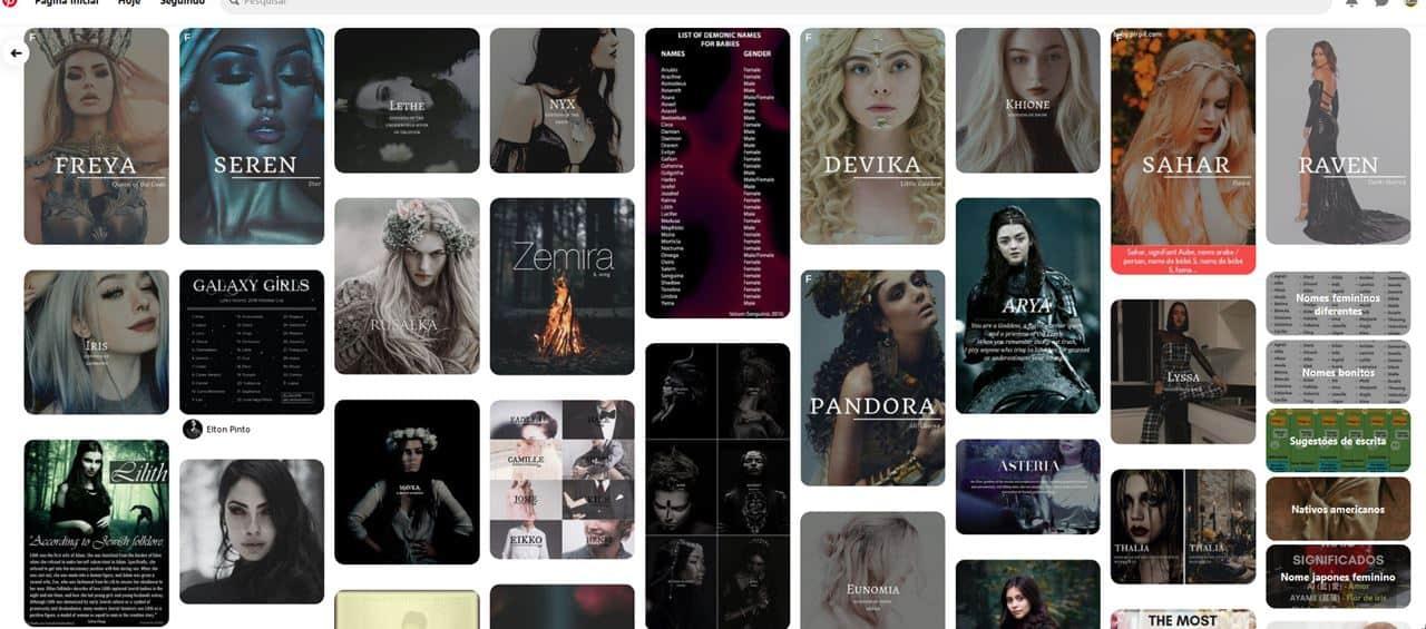 nomes-diferentes-pinterest 500 Nomes Femininos para Free Fire (ideias)