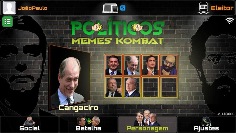 politicos-memes-combat-2 Políticos Memes Kombat: Game para Celular coloca Bolsonaro, Lula, Ciro e Temer para lutar